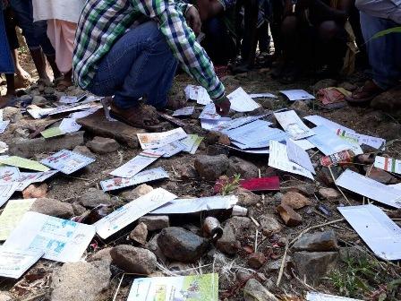 Aadhaar Cards, Bank Passbooks, ATMs found abandoned in Umerkote