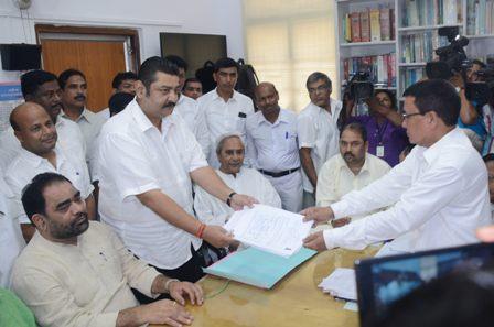 Pratap Deb files nominations for Rajya Sabha bypoll