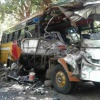 Woman killed, 30 injured in road accident