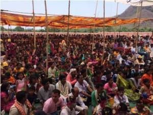 Dr. Achyuta Samanta address tribals in Bolangir