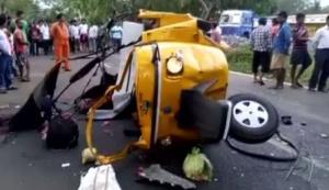 Road accident in Jagatsinghpur