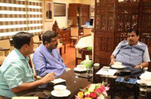 Dharmendra Pradhan meets Nitn Gadkari over Brahmani issue