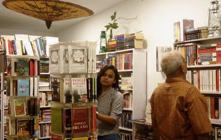 Walking Bookfairs cafe by Akshaya & Shatabdi