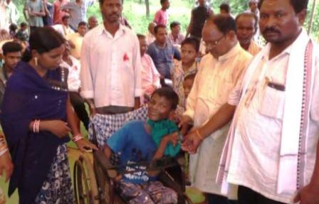 Youth make Ganesh puja celebration simple to cloth widows, divyangs