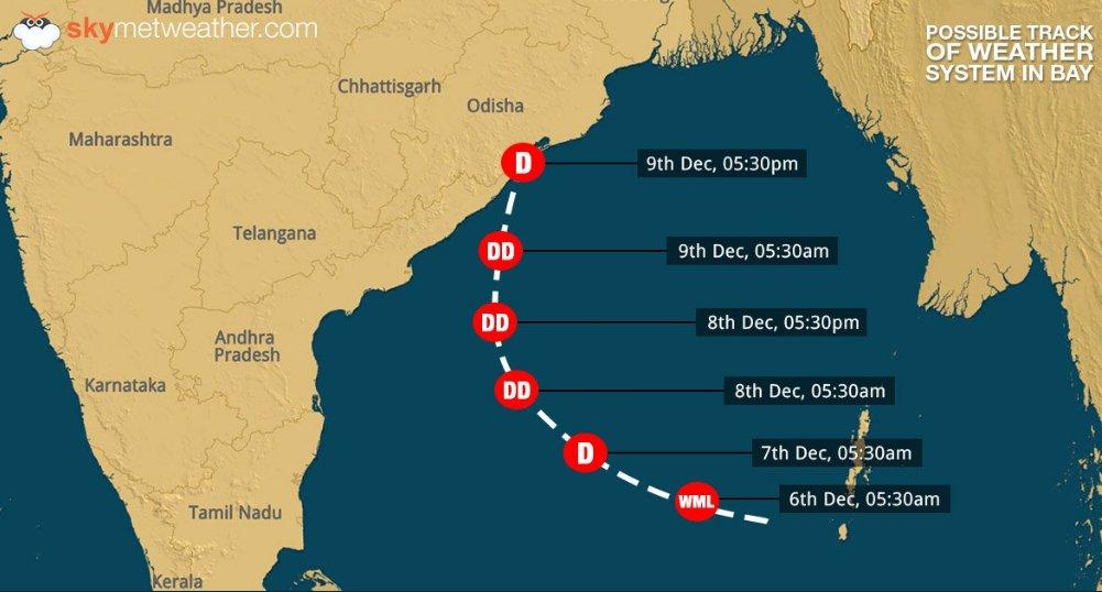 Met Dept predicts Heavy Shower in Odisha from Dec 7